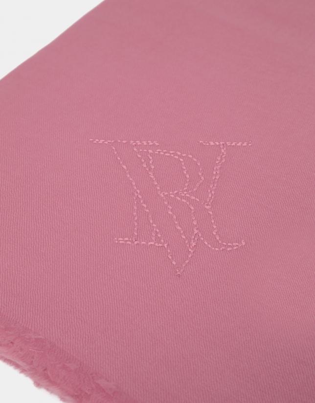 Fular lana color rosa