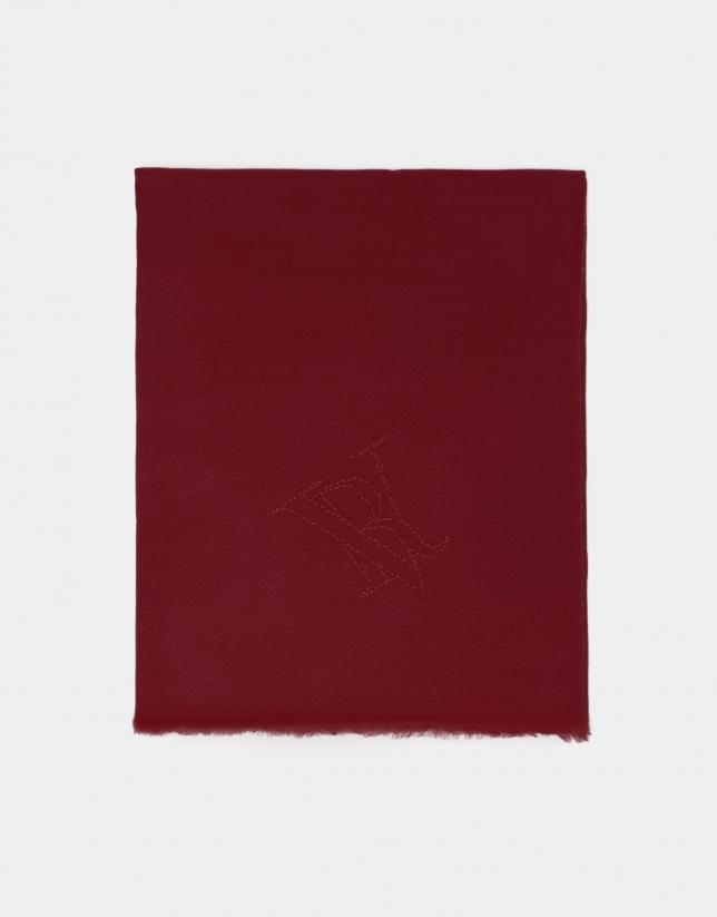 Red wool foulard