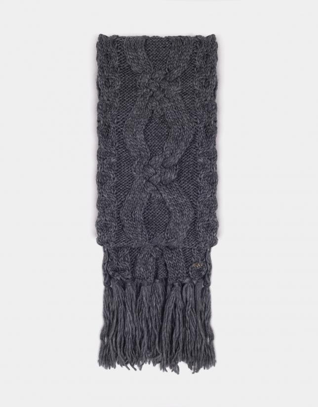 Bufanda de lana con flecos - Mujer - OI2018  615cafbf2e8