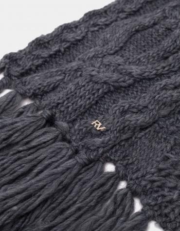 Echarpe en laine à franges