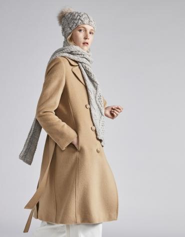 Echarpe en laine camel