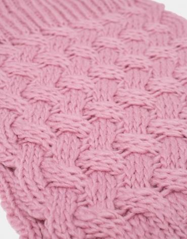 Pink wool tubular scarf