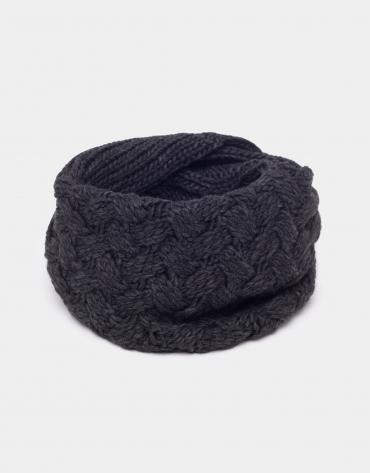 Tour de cou en laine gris