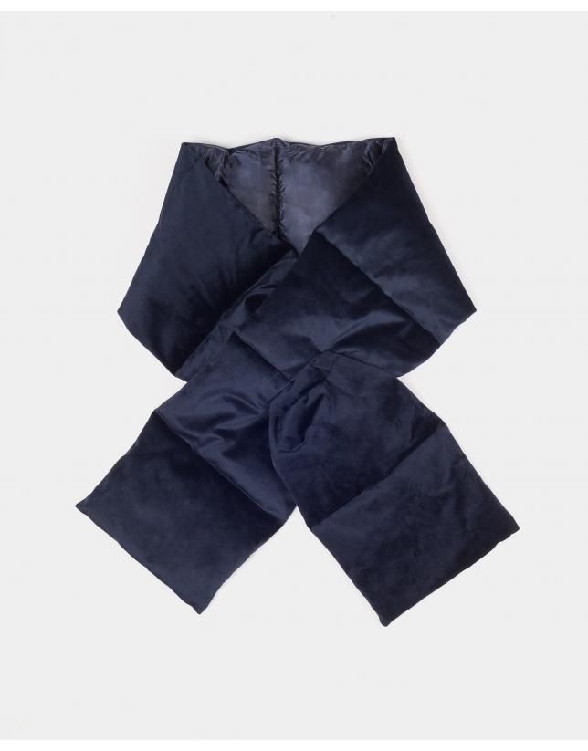 Bufanda acolchada marino