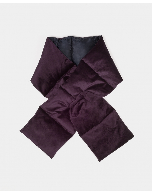 Burgundy quilted scarf