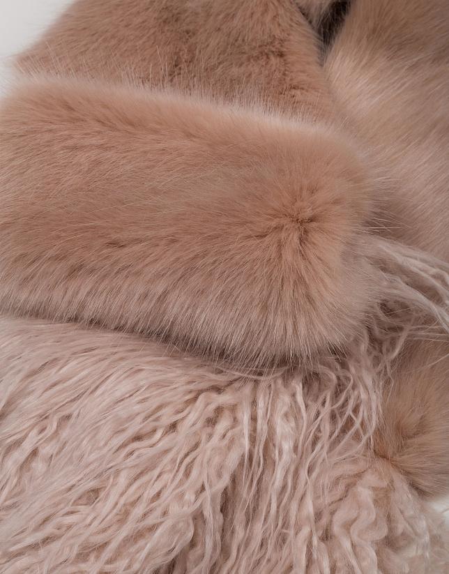 Bufanda efecto pelo beige