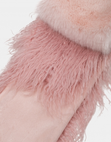 Bufanda efecto pelo rosa pastel
