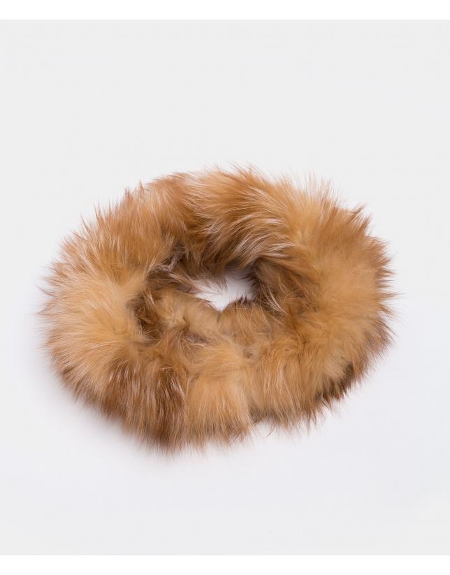 Tour de cou en renard beige