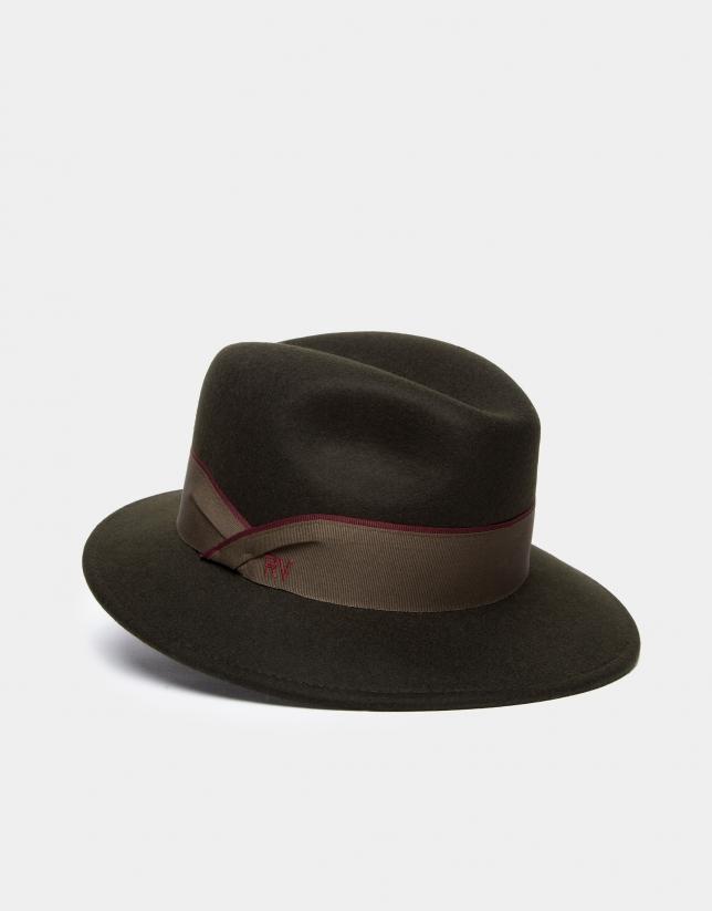 Sombrero borsalino en oliva