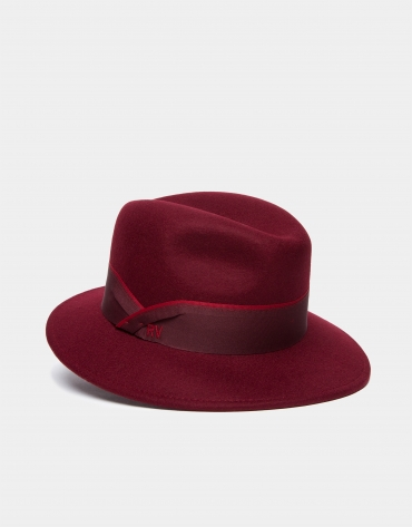 Burgundy Borsellino hat