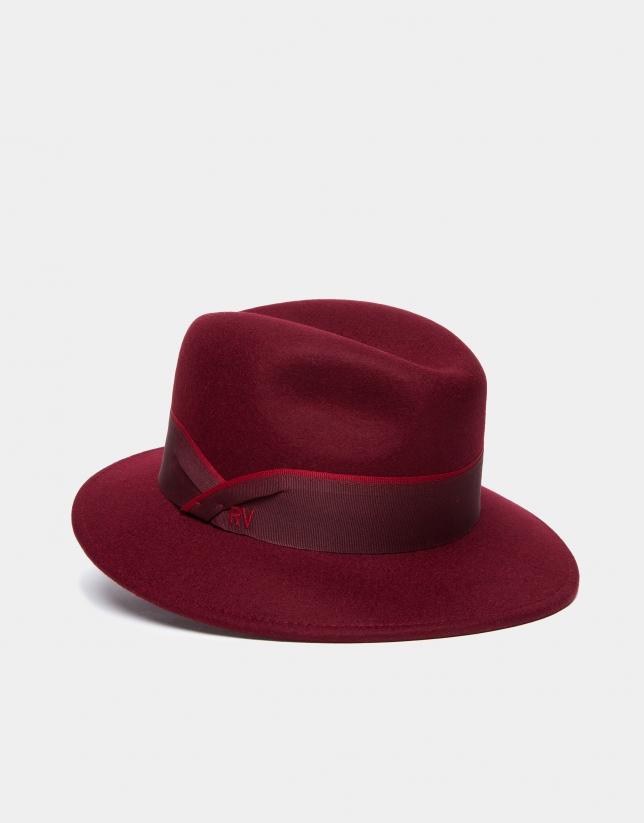Sombrero borsalino en granate - Mujer - OI2018  028a8303729