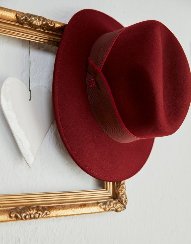 Sombrero borsalino en granate