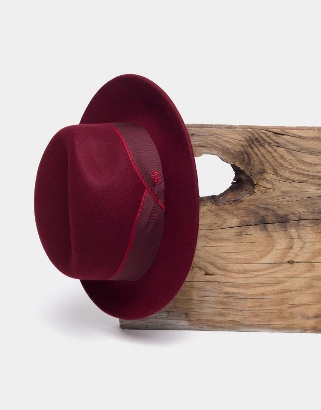 Burgundy Borsellino hat