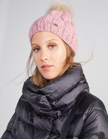 Pink wool knit cap