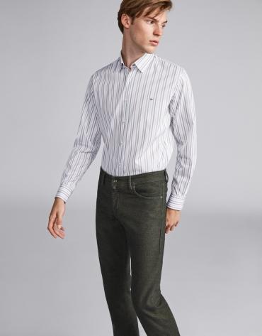 Pantalón cinco bolsillos verde caqui