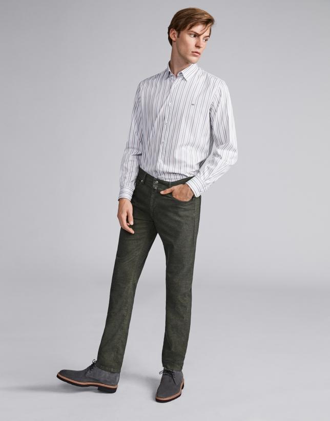 Panatalon cinq poches vert kaki