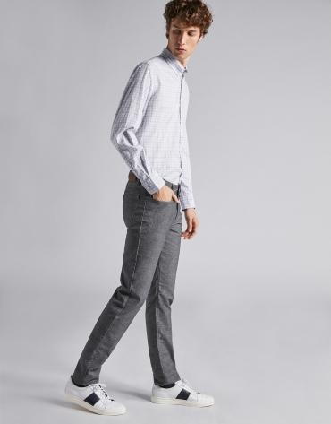 Pantalon cinq poches marron