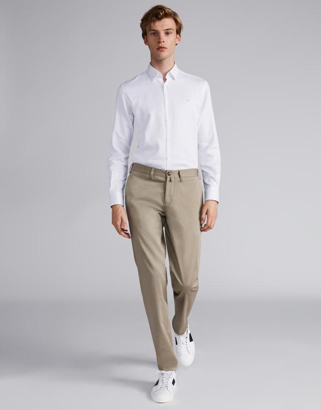 Pantalón chino algodón visón