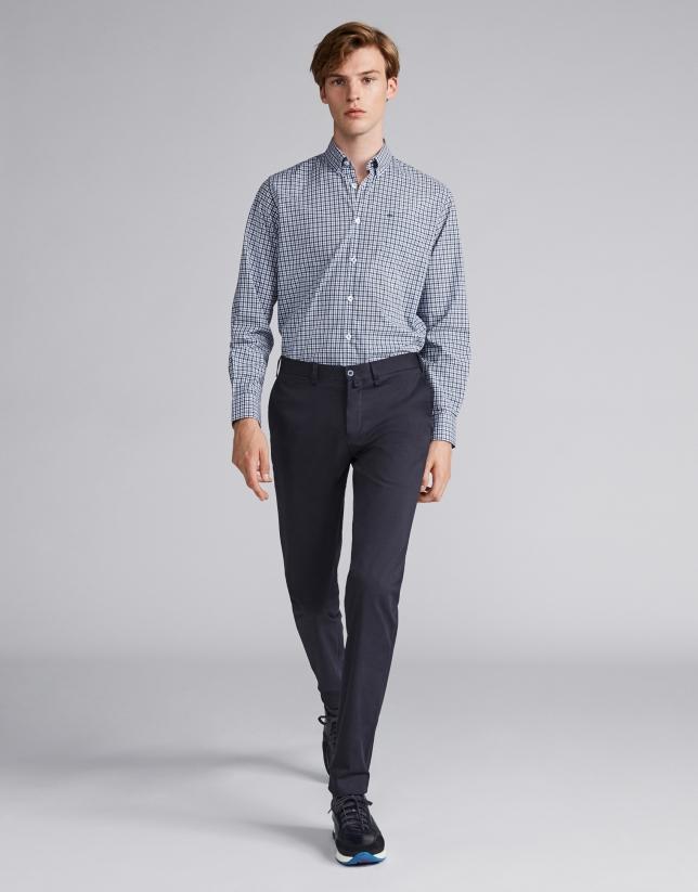 Pantalón chino algodón marino