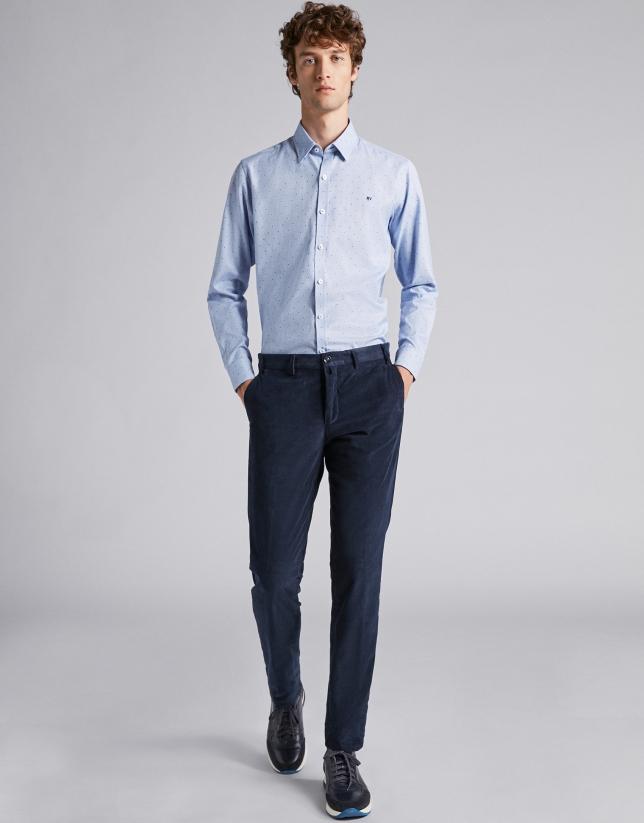 Navy blue fine corduroy pants