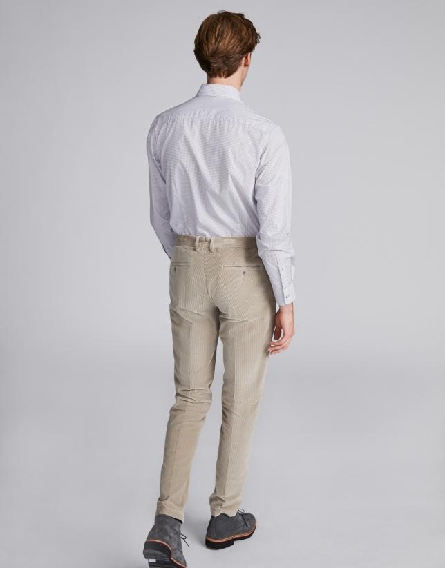 Beige corduroy pants