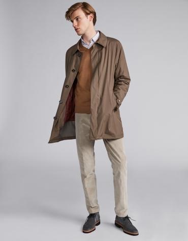 Pantalon en velours beige