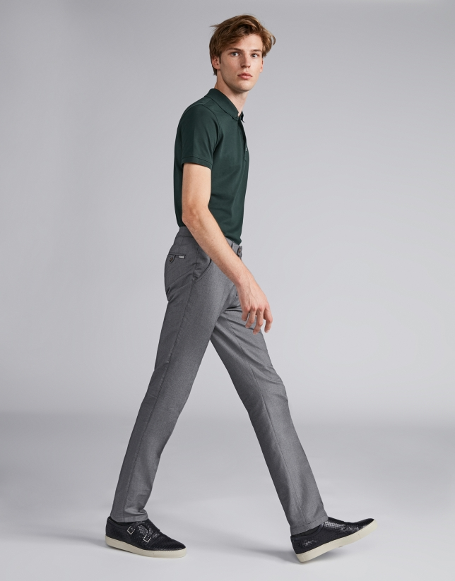 Pantalon œil de perdrix gris
