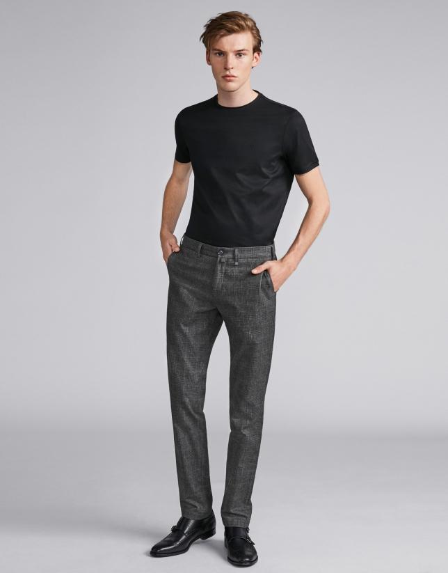 Khaki checked pants