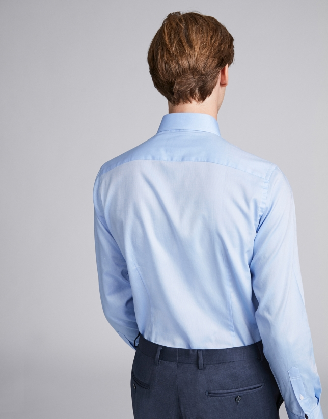 Camisa vestir slim fit oxford azul