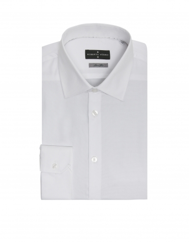 Chemise de costume slim fit (coupe ajustée) Oxford en blanc