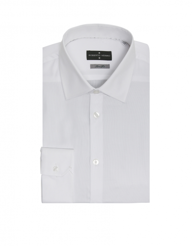 White Oxford, slim fit, dress shirt