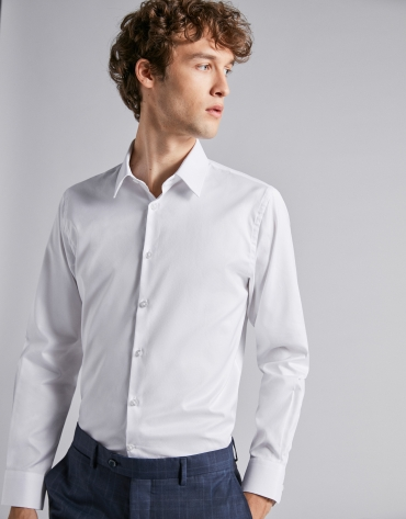 Plain fake white dress shirt
