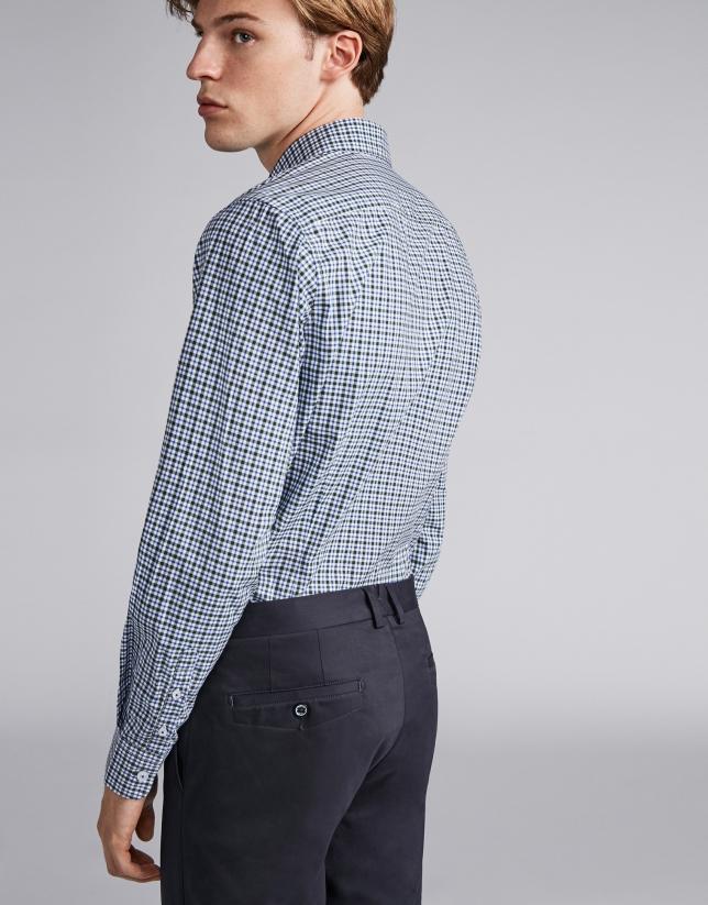 Blue/green little checked sport shirt