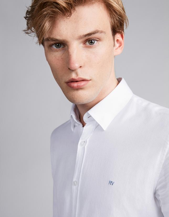 Fake plain white sport shirt
