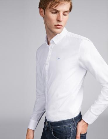 Blue Oxford sport shirt