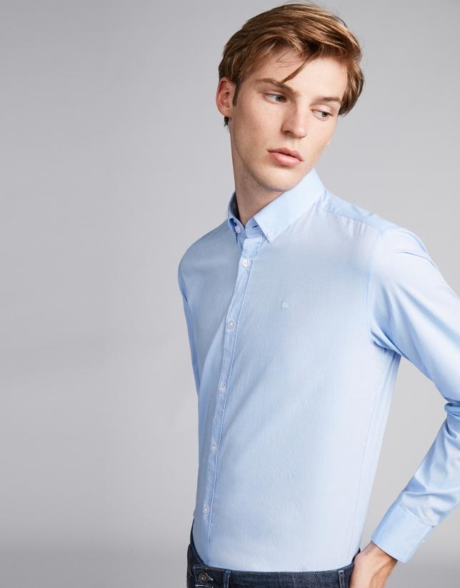 Camisa sport oxford azul