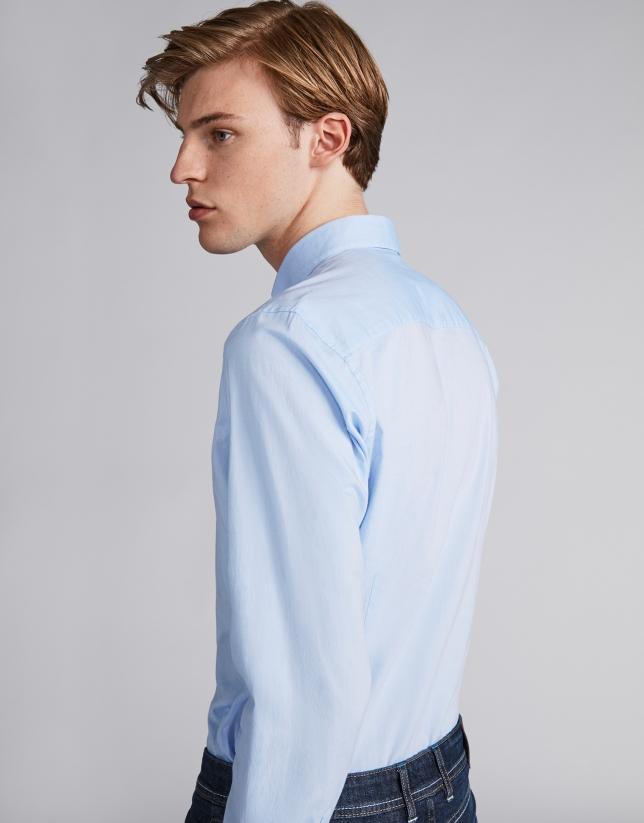 Chemise décontractée à rayures en bleu