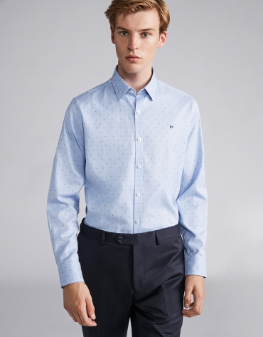 Light blue/white false plain sport shirt
