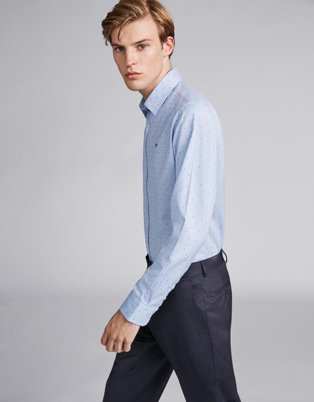 Light blue/white false plain sport shirt