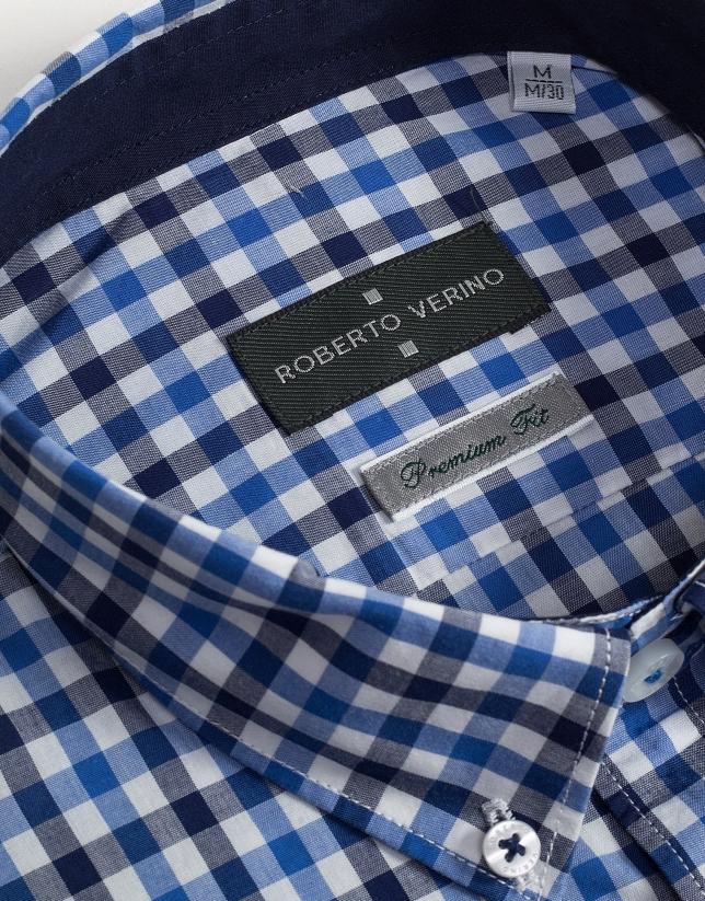 Camisa sport cuadros azules