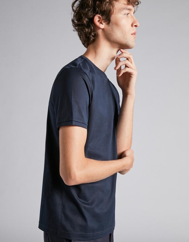 T-shirt classique bleu marine