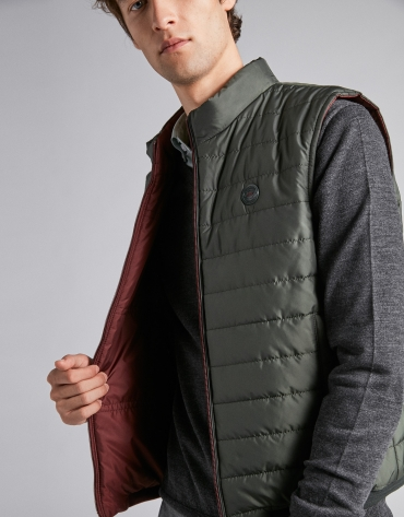 Green/Burgundy blue reversible vest