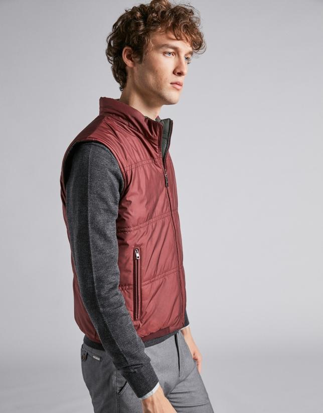 Green/Burgundy blue reversible vest