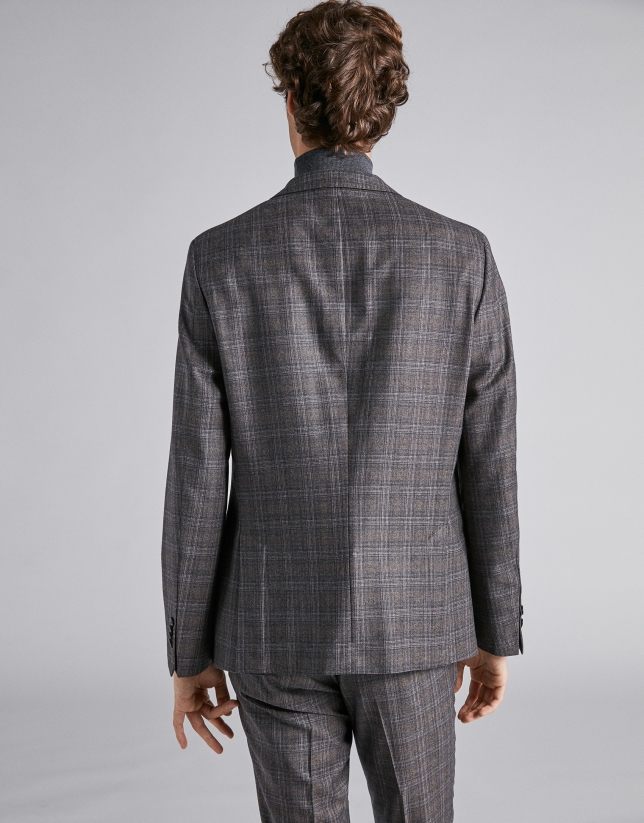 Brown checked sport jacket