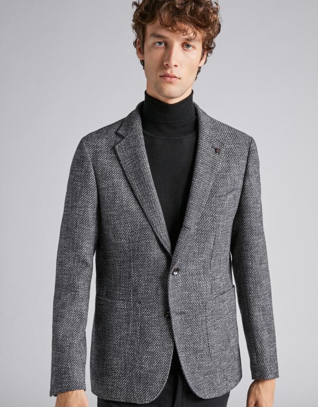 Gray bouclé sport jacket