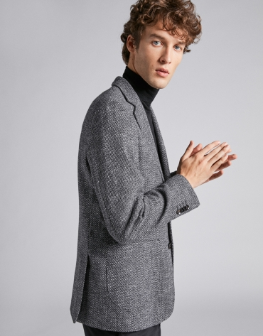 Gray bouclé sport jacket