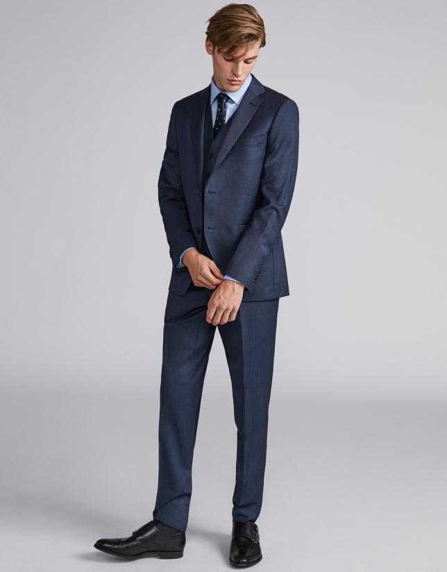 Dark gray, slim fit, wool suit