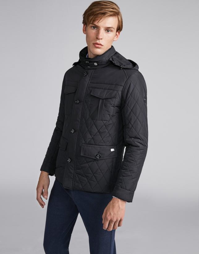 Black husky jacket with details
