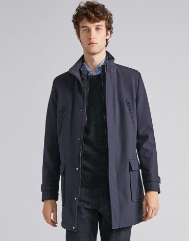 Manteau néoprène cleu marine avec plastron amovible