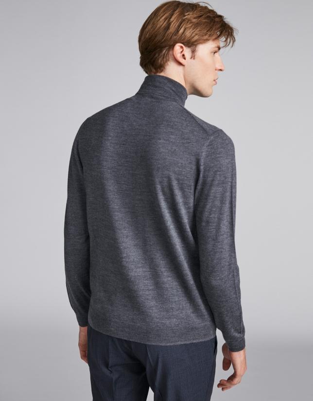 Jersey cuello vuelto gris